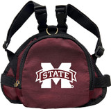 Mississippi State Bulldogs Dog Cat Mini Backpack Harness w/ Leash
