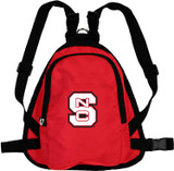 NC State Wolfpack Dog Cat Mini Backpack Harness w/ Leash