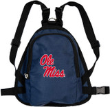 Mississippi Ole Miss Rebels Dog Cat Mini Backpack Harness w/ Leash