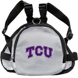TCU Horned Frogs Dog Cat Mini Backpack Harness w/ Leash