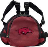 Arkansas Razorbacks Dog Cat Mini Backpack Harness w/ Leash