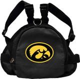 Iowa Hawkeyes Dog Cat Mini Backpack Harness w/ Leash