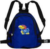 Kansas Jayhawks Dog Cat Mini Backpack Harness w/ Leash