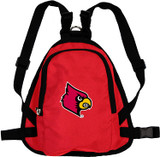 Louisville Cardinals Dog Cat Mini Backpack Harness w/ Leash