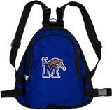 Memphis Tigers Dog Cat Mini Backpack Harness w/ Leash