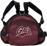 Montana Grizzlies Dog Cat Mini Backpack Harness w/ Leash