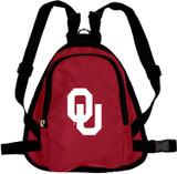 Oklahoma Sooners Dog Cat Mini Backpack Harness w/ Leash