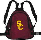 USC Trojans Dog Cat Mini Backpack Harness w/ Leash