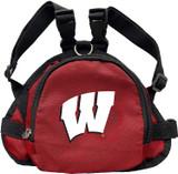 Wisconsin Badgers Dog Cat Mini Backpack Harness w/ Leash