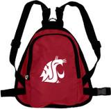 Washington State Cougars Dog Cat Mini Backpack Harness w/ Leash