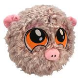 PetLove Fuzzy Pig Ball Dog Toy Premium Soft Plush w/ Squeaker
