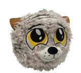 PetLove Fuzzy Tiger Ball Dog Toy Premium Soft Plush w/ Squeaker