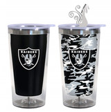 Oakland Raiders Color Change Travel Tumbler
