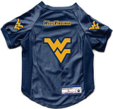 West Virginia Mountaineers Dog Deluxe Stretch Jersey Big Dog Size