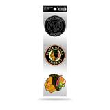 Chicago Blackhawks 3pc Retro Spirit Decals Premium Throwback Stickers