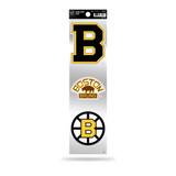 Boston Bruins 3pc Retro Spirit Decals Premium Throwback Stickers