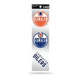 Edmonton Oilers 3pc Retro Spirit Decals Premium Throwback Stickers