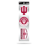 Indiana Hoosiers 3pc Retro Spirit Decals Premium Throwback Stickers