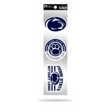 Penn State Nittany Lions 3pc Retro Spirit Decals Premium Throwback Stickers