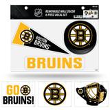 Boston Bruins Removable Wall Decor 6pc Set Premium Decals