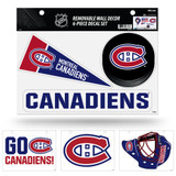 Montreal Canadiens Removable Wall Decor 6pc Set Premium Decals