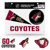 Arizona Coyotes Removable Wall Decor 6pc Set Premium Decals