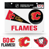Calgary Flames Removable Wall Decor 6pc Set Premium Decals