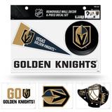 Vegas Golden Knights Removable Wall Decor 6pc Set Premium Decals