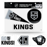 Los Angeles Kings Removable Wall Decor 6pc Set Premium Decals
