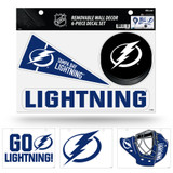 Tampa Bay Lightning Removable Wall Decor 6pc Set Premium Decals