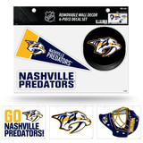 Nashville Predators Removable Wall Decor 6pc Set Premium Decals
