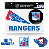 New York Rangers Removable Wall Decor 6pc Set Premium Decals