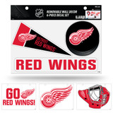 Detroit Red Wings Removable Wall Decor 6pc Set Premium Decals