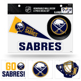 Buffalo Sabres Removable Wall Decor 6pc Set Premium Decals