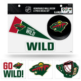 Minnesota Wild Removable Wall Decor 6pc Set Premium Decals