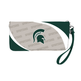 Michigan State Spartans Curve Zip Organizer Wallet Wristlet