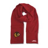 Chicago Blackhawks Jimmy Bean Scarf 4 In 1 Handwarmer Beanie Pocket Unisex