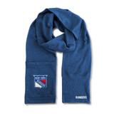 New York Rangers Jimmy Bean Scarf 4 In 1 Handwarmer Beanie Pocket Unisex