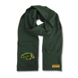 North Dakota State Bison Jimmy Bean Scarf 4 In 1 Handwarmer Beanie Pocket Unisex