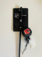 Calgary Flames Cat Puck Toy Wand Interactive Teaser