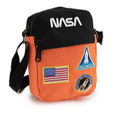 NASA Premium Crossbody Bag Embroidered Patches Purse Wallet