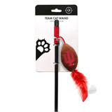 Indiana Hoosiers Cat Football Toy Wand Interactive Teaser