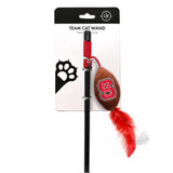 NC State Wolfpack Cat Football Toy Wand Interactive Teaser