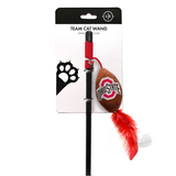 Ohio State Buckeyes Cat Football Toy Wand Interactive Teaser