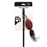 TCU Horned Frogs Cat Football Toy Wand Interactive Teaser