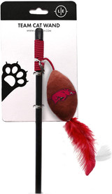 Arkansas Razorbacks Cat Football Toy Wand Interactive Teaser