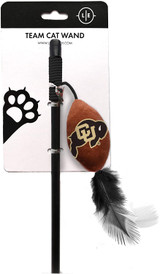 Colorado Buffaloes Cat Football Toy Wand Interactive Teaser
