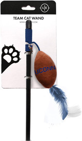 UCONN Huskies Cat Football Toy Wand Interactive Teaser