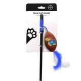 Kansas Jayhawks Cat Football Toy Wand Interactive Teaser