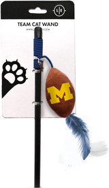 Michigan Wolverines Cat Football Toy Wand Interactive Teaser